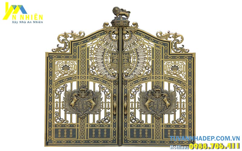 cổng nhôm đúc hợp kim