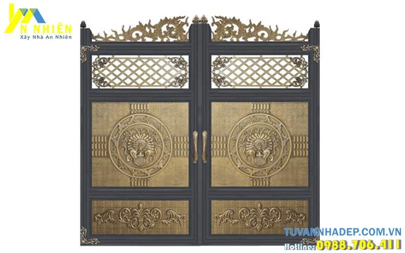 hình ảnh cổng nhà bằng nhôm đúc