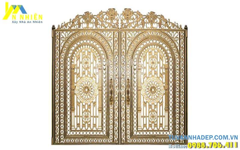 hình ảnh cổng nhôm đúc đẹp cho ngôi nhà đẹp