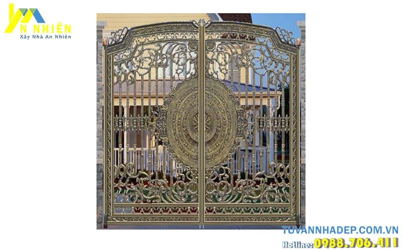 mẫu cổng với hoa văn cổ điển