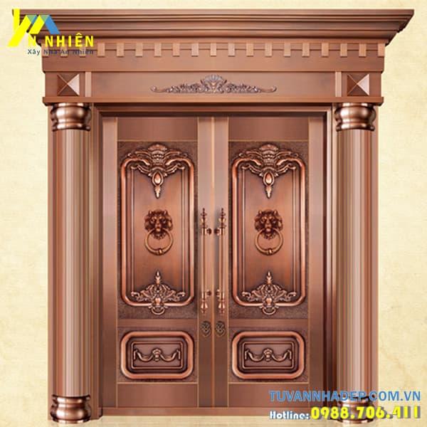 mẫu cửa gỗ lim đẹp - 12
