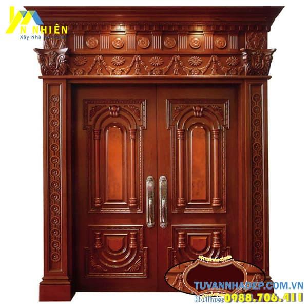 mẫu cửa gỗ lim đẹp - 11
