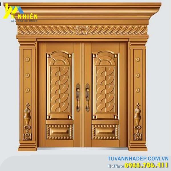 mẫu cửa gỗ lim đẹp - 09