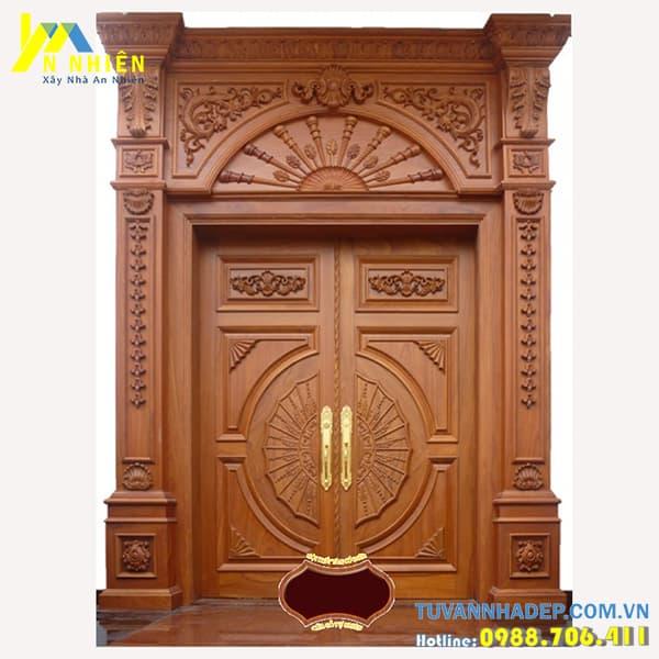 mẫu cửa gỗ lim đẹp - 08