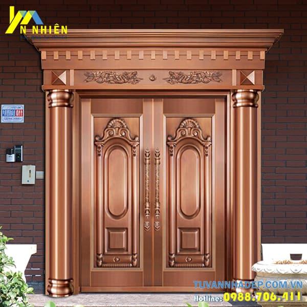 mẫu cửa gỗ lim đẹp - 06