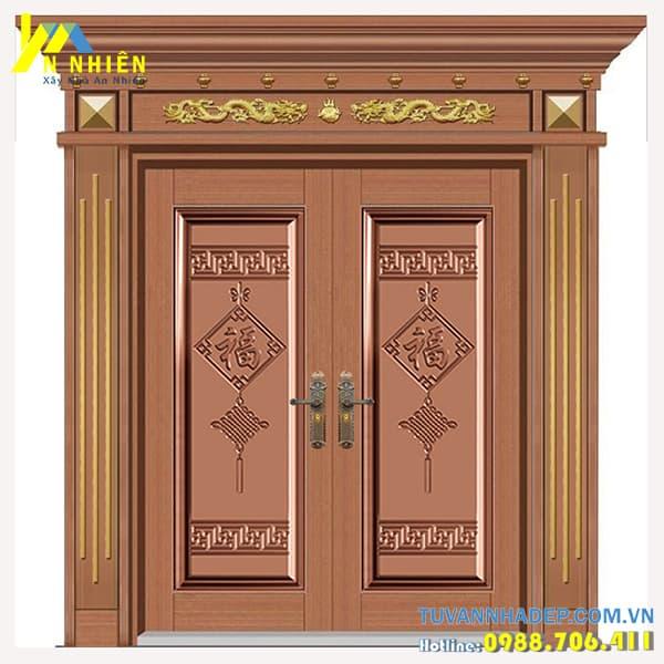 mẫu cửa gỗ lim đẹp - 05