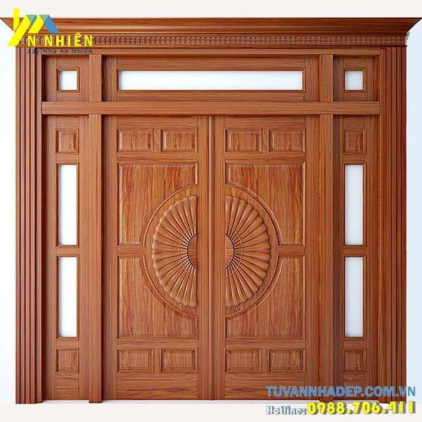 cửa có thiết kế đơn giản tập trung đến việc đảm bảo sự chắc chắn cho ngôi nhà