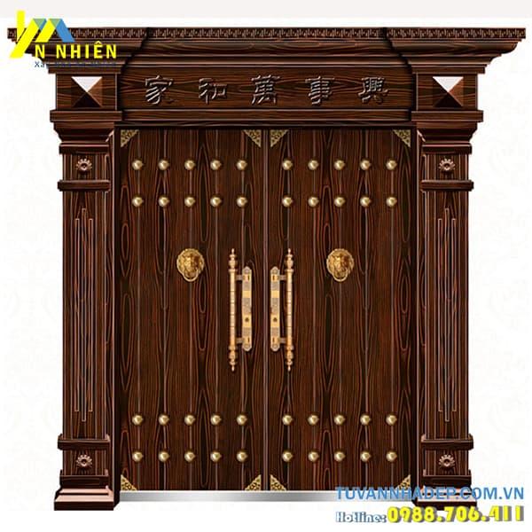 mẫu cửa gỗ lim đẹp - 03