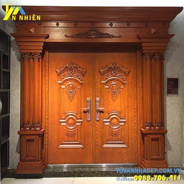 mẫu cửa gỗ lim đẹp - 02