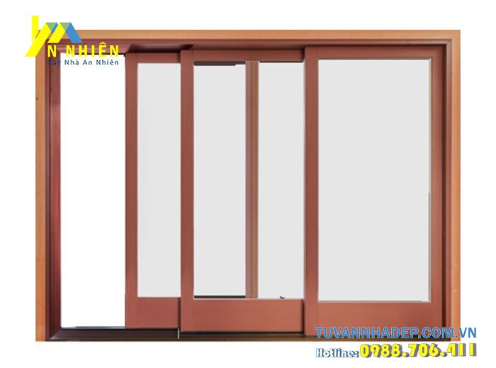 cửa lùa bằng gỗ