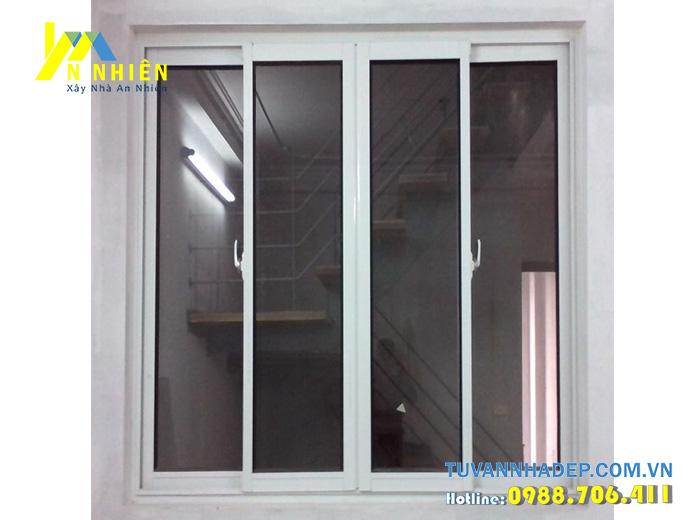 cửa sổ lùa bằng nhôm kính việt pháp 2600