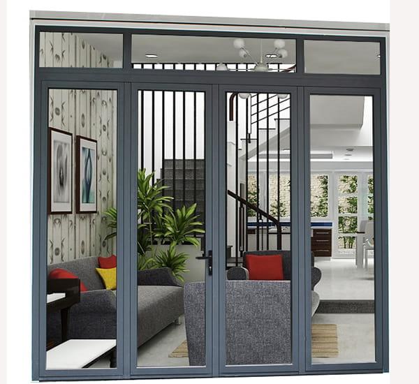 thiết kế cửa đồng bộ với kiến trúc nhà