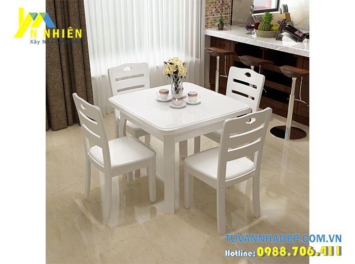 ghế bàn ăn màu trắng đẹp