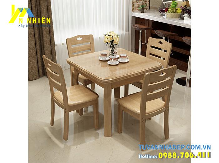 mẫu ghế bàn ăn 4 người hiện đại