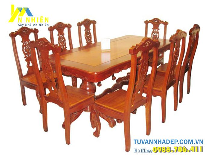 ghế bàn ăn 8 người sang trọng