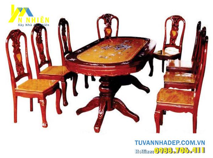 bộ ghế bàn ăn sang trọng cho 8 người
