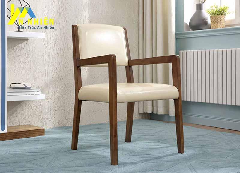 mẫu ghế gỗ kế hợp da cho quán cafe