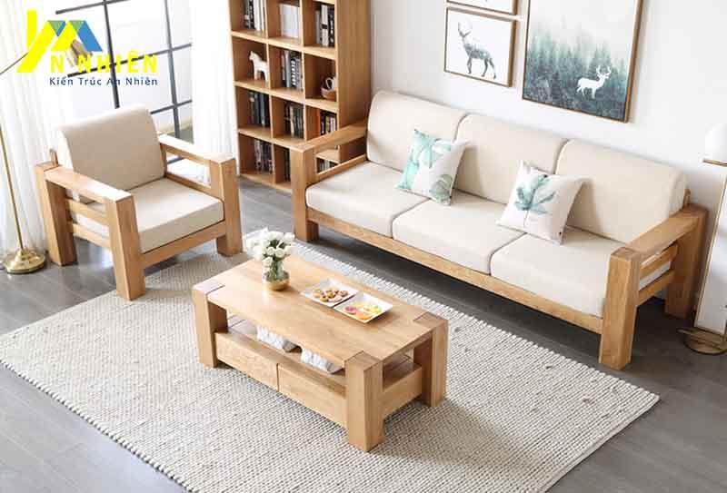 hình ảnh ghế gỗ cao su cho phòng khách