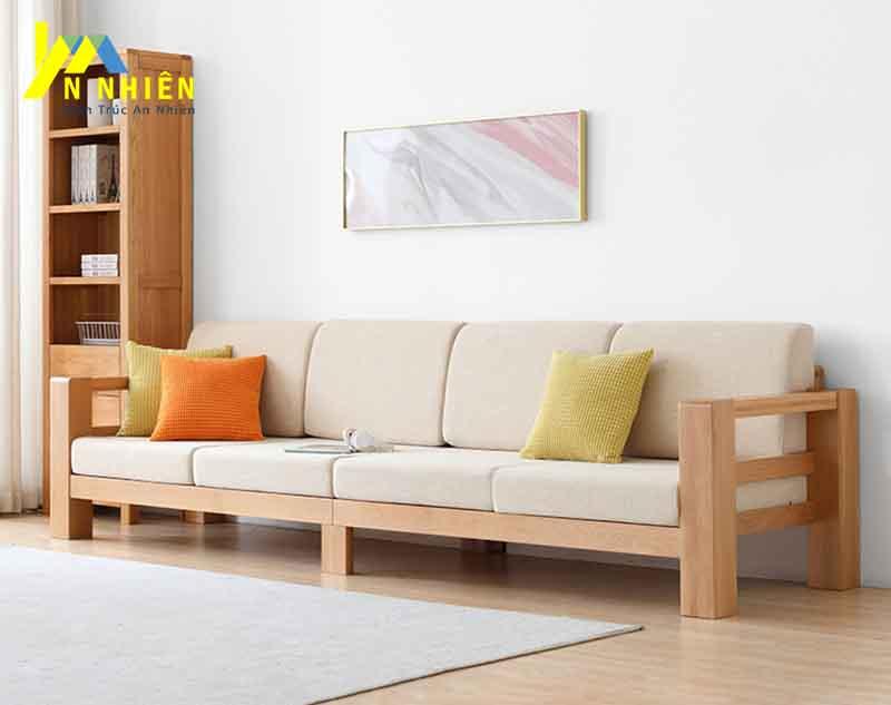 thiết kế ghế gỗ phòng khách bằng gỗ cao su
