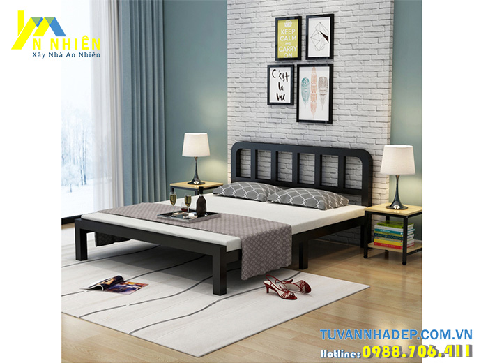 mẫu giường rẻ gỗ công nghiệp