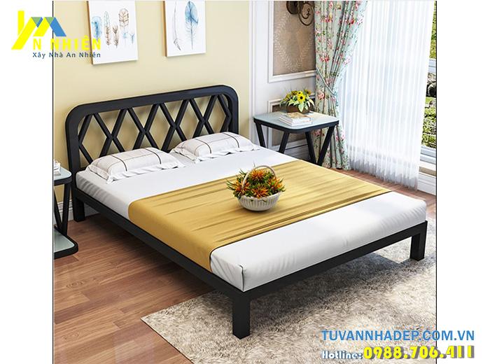 hình ảnh giường gỗ công nghiệp giá rẻ