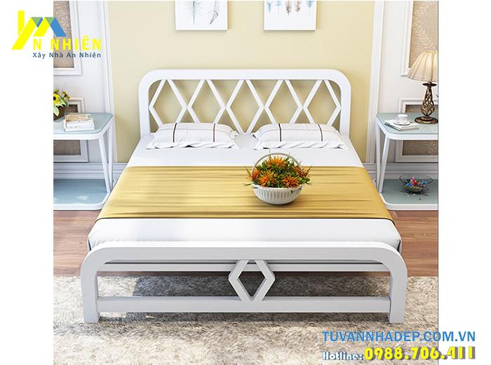 mẫu giường ngủ gỗ công nghiệp giá rẻ