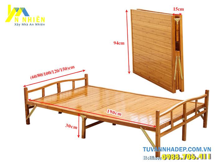 mẫu giường gỗ tự nhiên giá rẻ