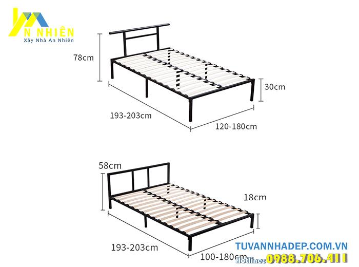 kích thước giường đơn giá rẻ