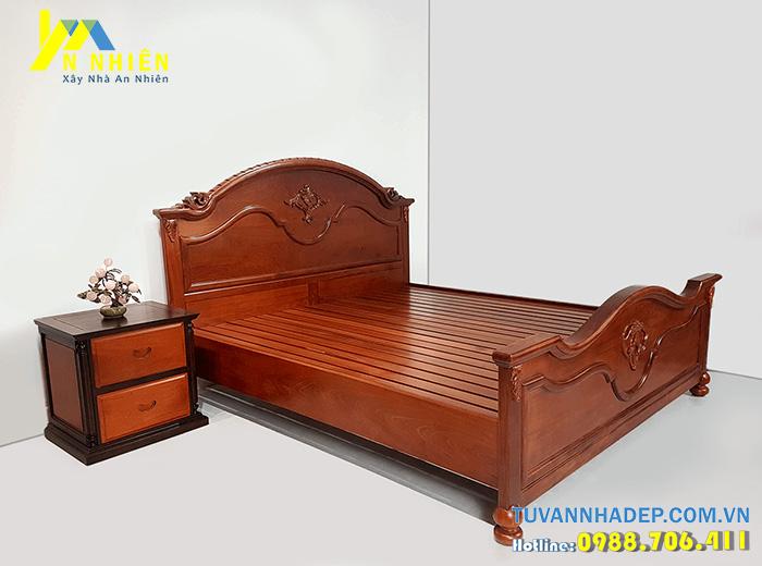 giường đẹp được làm từ gỗ căm xe