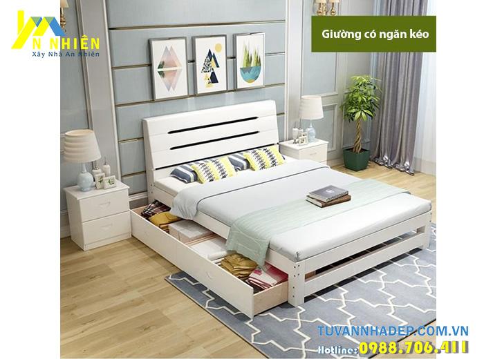 giường gỗ công nghiệp hiện đại