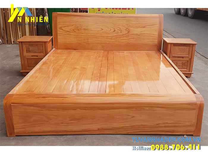 giường bằng gỗ gõ đỏ