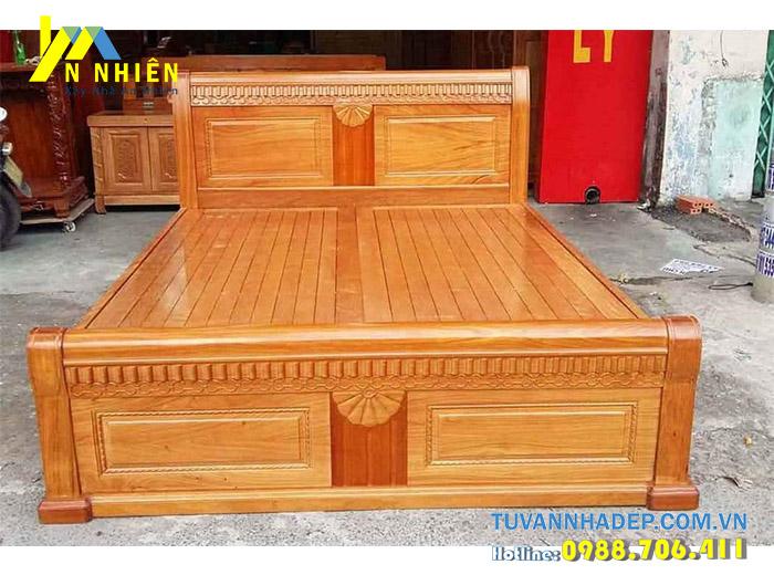 giường đẹp bằng gỗ gõ đỏ