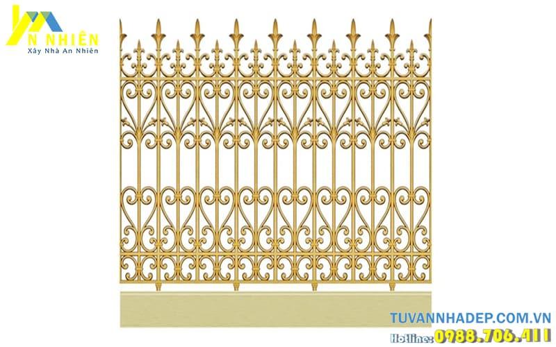 mẫu hàng rào bằng nhôm đúc