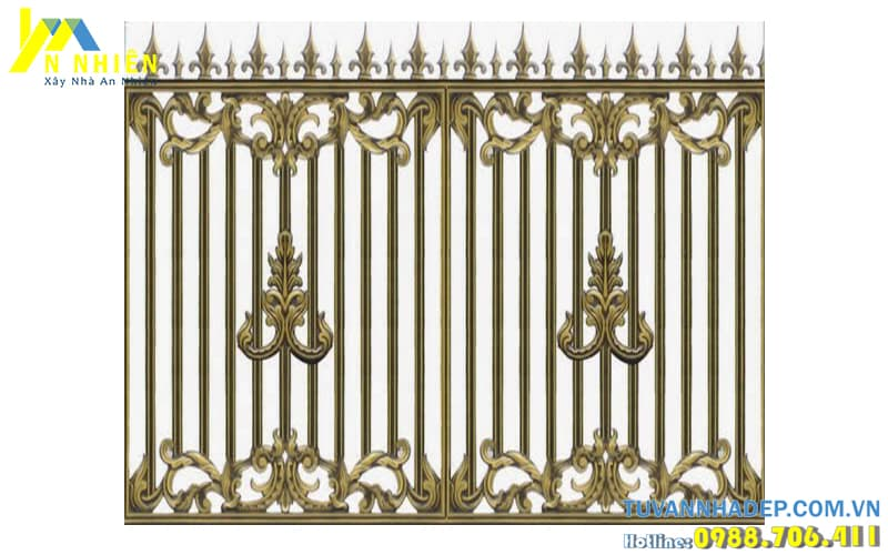mẫu hàng rào đẹp bằng nhôm đúc
