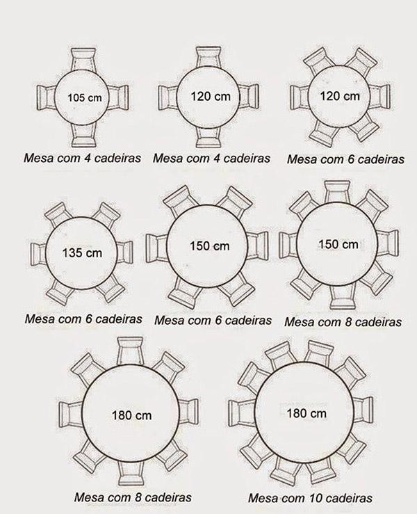 kích thước bàn ăn tròn