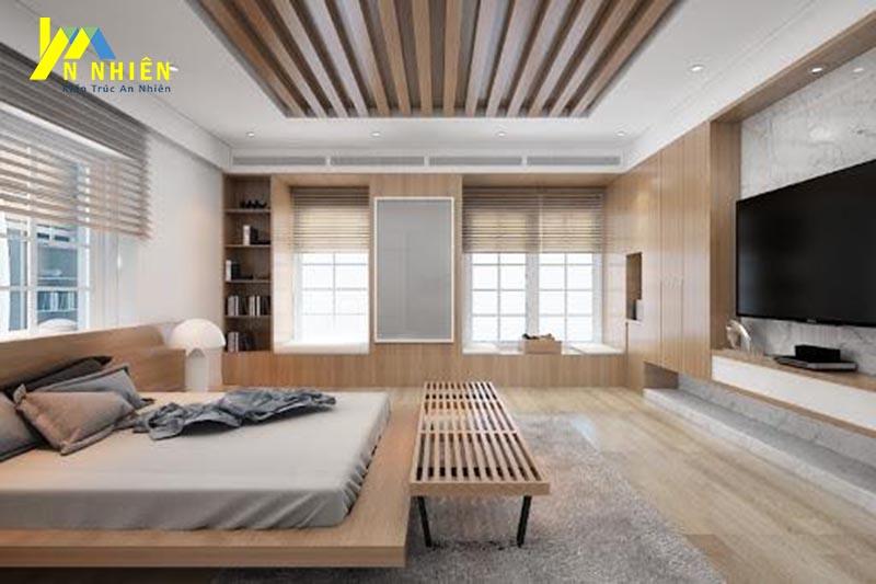 lam gỗ cho phòng ngủ