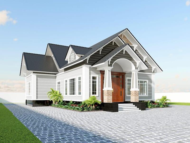 bản vẽ thiết kế nhà mái thái đẹp