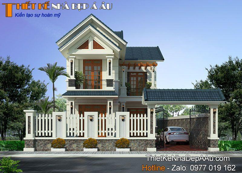 Vẻ đẹp đơn giản đến từ mẫu nhà 2 tầng chữ L 4 phòng ngủ ở Hà Nam