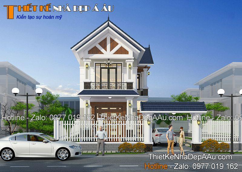 Chiêm ngưỡng vẻ đẹp mẫu nhà 2 tầng mái thái 80m2 3 phòng ngủ