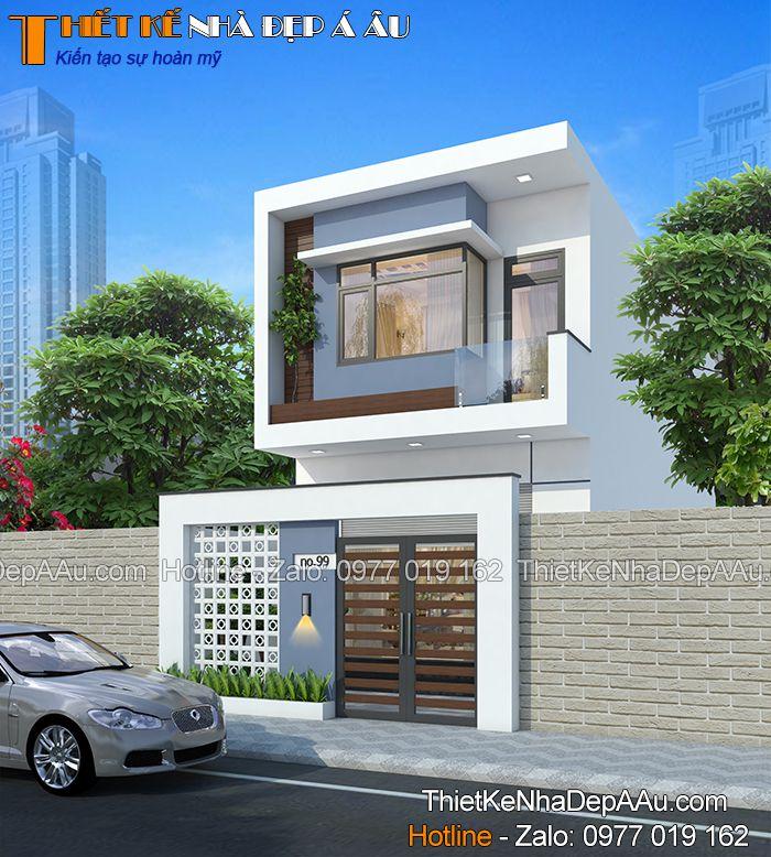 Ý tưởng thiết kế ban đầu của mẫu nhà phố 2 tầng mặt tiền 5m 3 phòng ngủ