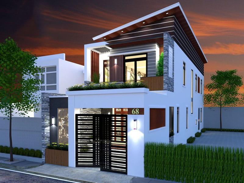 Xu hướng thiết kế nhà 2 tầng ở nông thôn