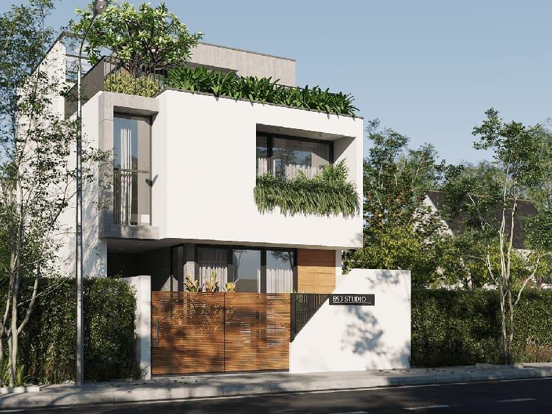 Kiến trúc nhà hiện đại phù hợp với mảnh đất diện tích nhỏ