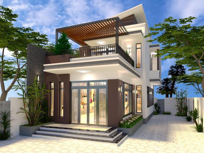 Nhà 2 tầng mặt tiền 6m