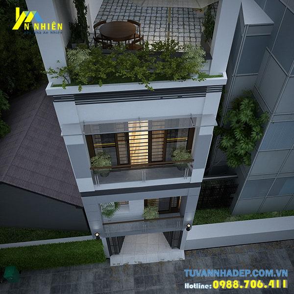 Ban công nhà phố trang trí bằng cây cảnh đẹp