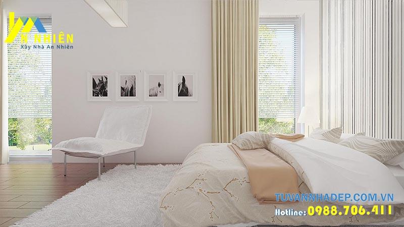 phòng ngủ nhẹ nhàng tinh tế