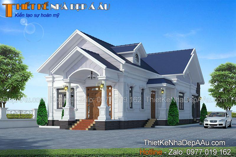 Thiết kế bản vẽ nhà cấp 4 mặt tiền 10m mái thái đẹp ở Nam Định