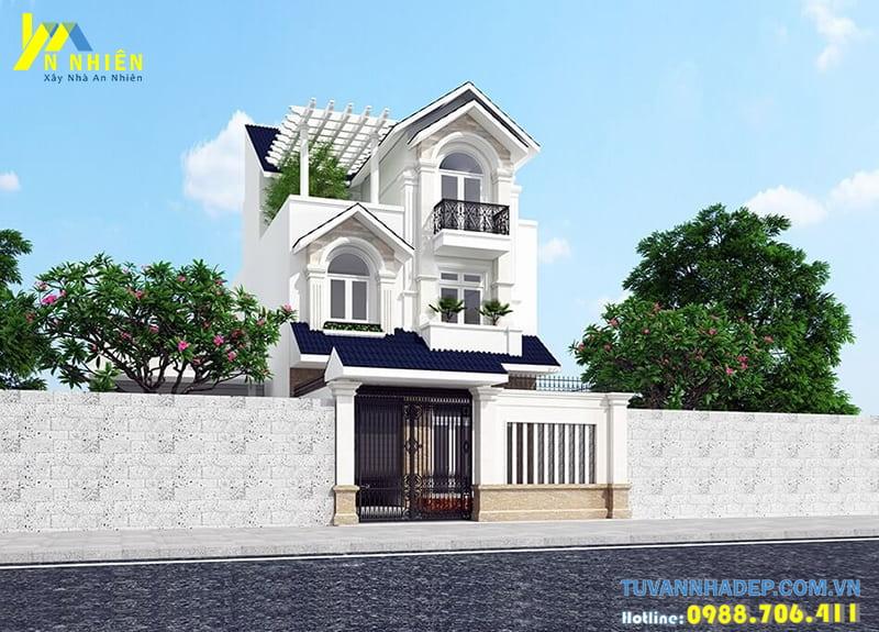 Thiết kế nhà phố mái thái đẹp