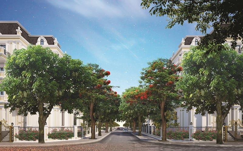 Các ngôi nhà có không gian xanh bao bọc lấy toàn thể tổng thể kiến trúc