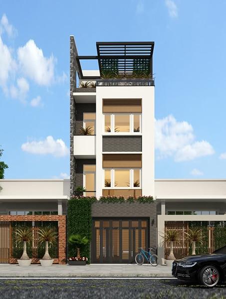Thiết kế nhà phố 3 tầng 92m2