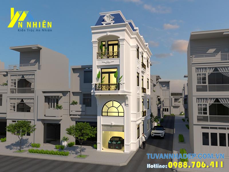 nhà phố 4 tầng 2 mặt tiền